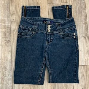 ANGELS JEANS ZIPPER ANKLES